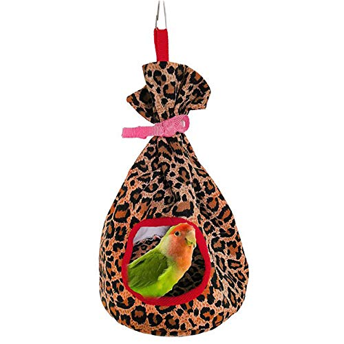 (Bird Hammock, Parrot Perch Tents, Winter Warm Bird Nest House Plush Hanging Cave Hut Hideaway for Macaw African Parakeet Cockatiels Cockatoo Conure)