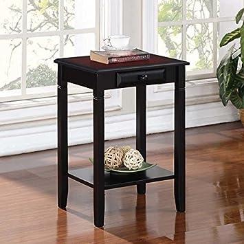 Linon Camden Accent Table 18 w x 14 d x 24 h Black Cherry