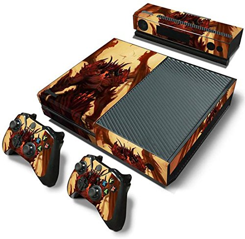 ModFreakzTM Console/Controller Vinyl Skin Set - Evil Red Demon Wings for Xbox One