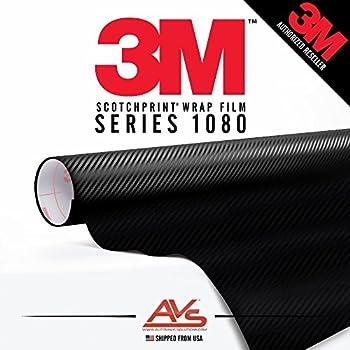 3M Di-Noc Carbon Fiber Matte Black Vinyl Car Wrap Film Sheet Roll - CA421-1ft x 4ft (4 sq/ft) (12