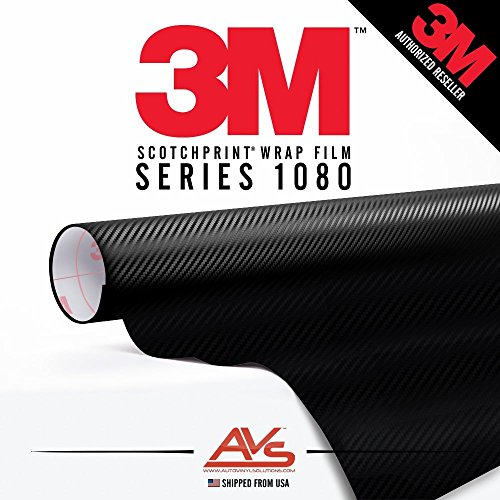 3M Di-Noc Carbon Fiber Matte Black Vinyl Car Wrap Film Sheet Roll - CA421 - 2ft x 4ft (8 sq/ft) (24