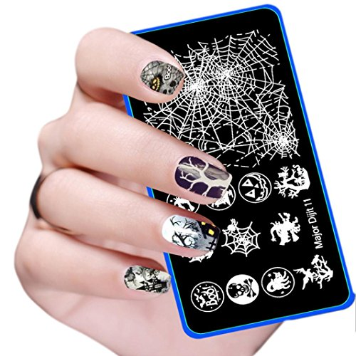 Leoy88 DIY Nail Art Template for Halloween Party (Halloween Makeup Pop Art)