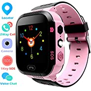 Kids Smartwatch, GPS Locator, Smart Phone Watch, Camera Watch, SOS, Alarm Clock, Environmental Material, Math Game, History locus Tracking, Smart Watch Phone for School Kids from 3-14 Years Old