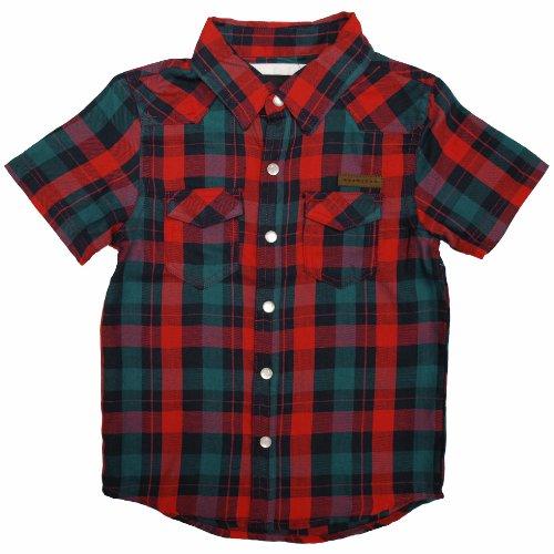Sean John Little Boys' Plaid Woven Shirt(Red 4)