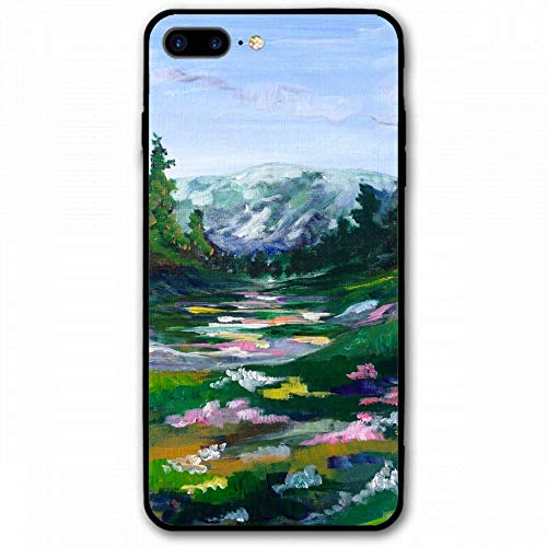 (Tempered Glass Phone Case for iPhone 8 Plus/7 Plus case Back Cover for iPhone 8 Plus/7 Plus -)