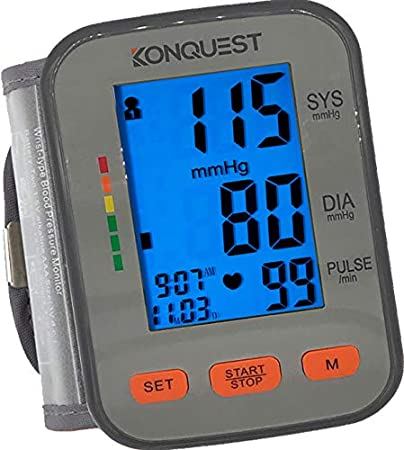 Konquest KBP-2910W Automatic Wrist Arm Blood Pressure Monitor - Accurate, FDA Approved -