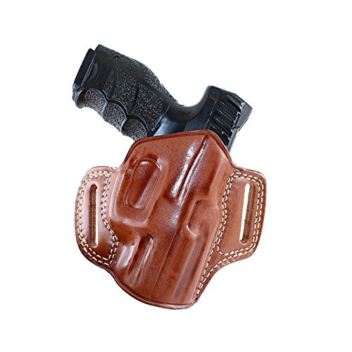 Leather Pancake (OWB) Holster Open TOP for Heckler for sale  Delivered anywhere in USA