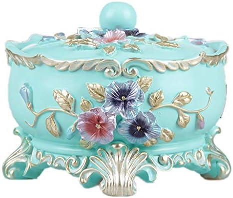 灰皿 , ヨーロッパのクリエイティブカバー灰皿世帯傾向ガラス灰皿装飾大灰皿 (色 : D, サイズ : 13.5*11cm)