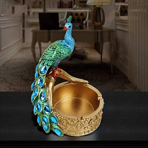 SRX 灰皿は、ヨーロッパの創造的な装飾品は部屋リビングルームのホーム9.5X8X14CM生き灰皿ブルーコーヒーテーブルオフィスを装飾します