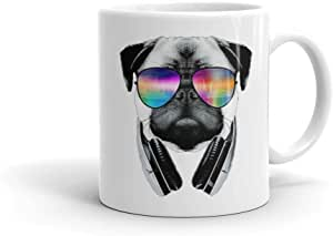 Dog With Glasses - White Mug