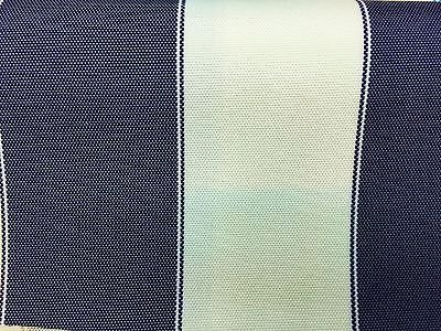 Navy White Striped Waterproof Outdoor Canvas Fabric- 60