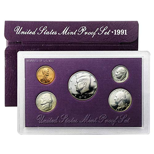 - 1991 S Proof Set 5 Coin Set OGP Original Government Proof
