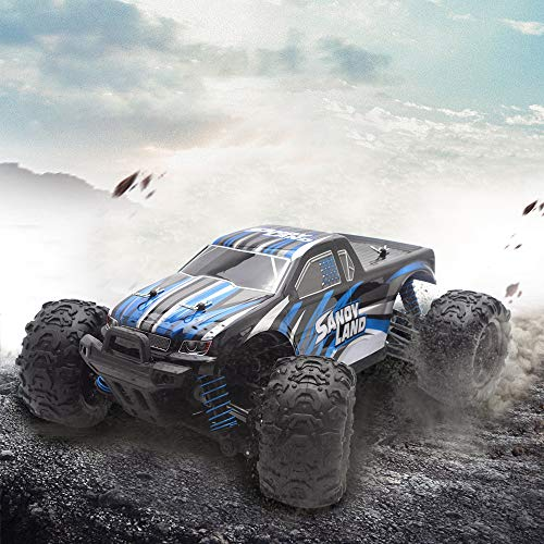 US Fast Shipment Tuscom Remote Control RC Car,S9300 2.4Gh 4 WD High Speed Waterproof Electronics Monster Remote Control Truck,Rechargeable Battery for Kids Adults (Blue) ()