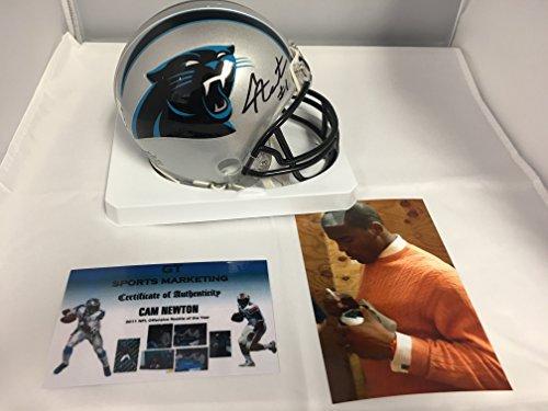 Cam Newton Signed Autographed Carolina Panthers Mini Helmet GTSM Personal Hologram & COA (Signed Helmet)