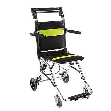 Sillas de ruedas Aeronave Viaje para Personas Mayores portátil y Plegable Regalo para Padres Puede soportar 75 kg: Amazon.es: Hogar