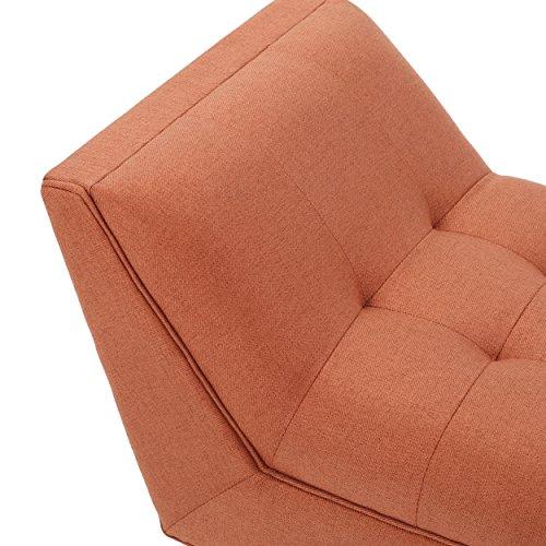 Madrid Orange Fabric Bench
