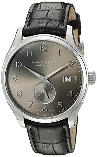 Hamilton Men's 'Jazzmaster' Swiss Automatic Stainless Steel and Black Leather Casual Watch (Model: H42515785) by Hamilton