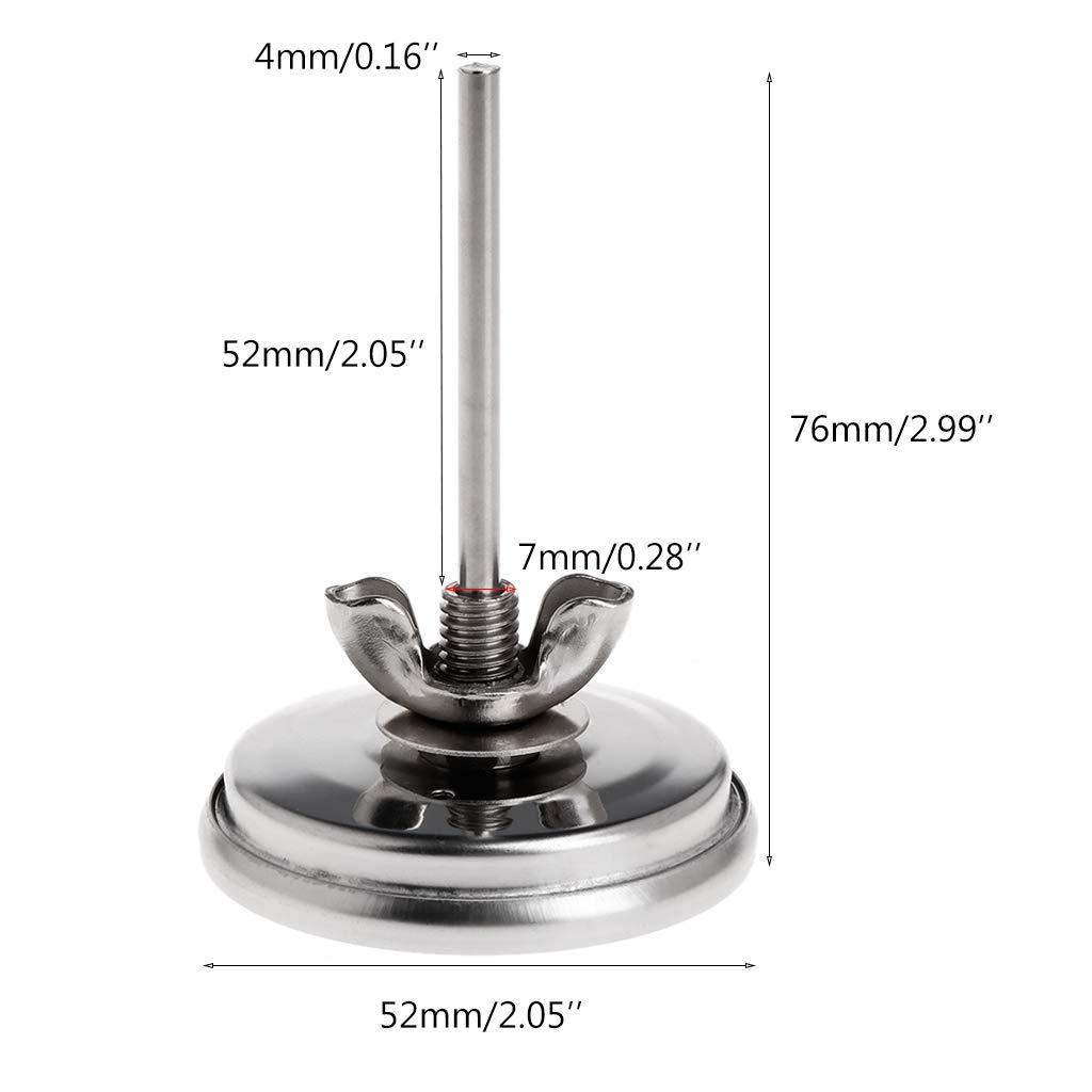 Thermom/ètre pour barbecue avec indicateur de chaleur au charbon de bois 5,1 cm