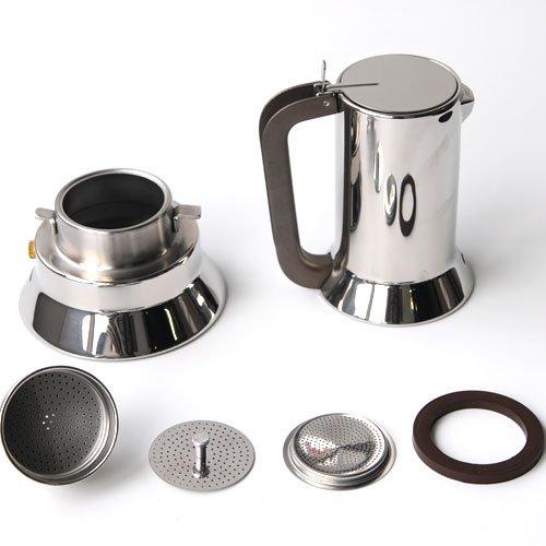 Alessi Espresso Maker 9090 by Richard Sapper, 6 Espresso Cups by Alessi (Image #6)