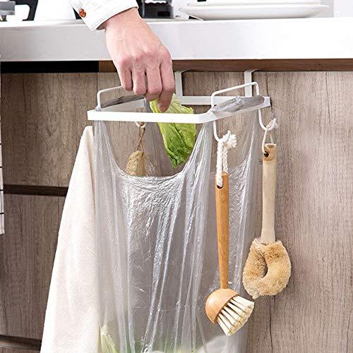 - Kitchen Portable Trash Rack, Elevin(TM) Portable Kitchen Trash Bag Holder Cabinets Cloth Rack Towel Rack (White)