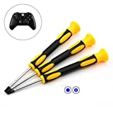 Fixinus T6 T8 T10 Torx Screwdriver Set for Xbox One Xbox 360 Controller and PS3 PS4 Security Screw Driver Professional Spudger Prying Repair Tool