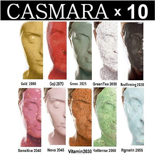 10X CASMARA Mask Premium Package (10 Multi Colors) + 1 Mixing Spatula and 2 Korean Skincare Samples (10 COLORS)