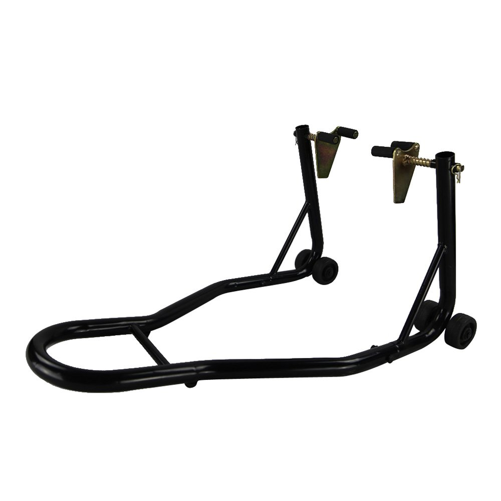 Million Parts Universal Front Wheel Lift Stand Spoolift Forklift Paddock Swingarm for Sport Bike Motorcycle Motobike Auto Black