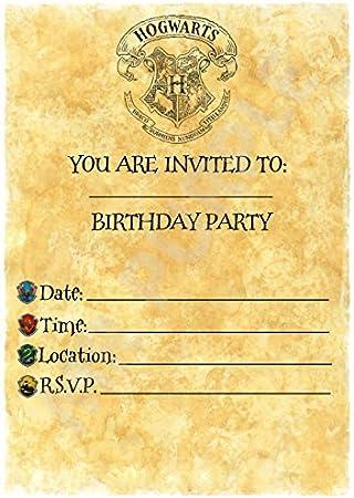 Harry Potter Birthday – invitaciones para fiestas – Carta de ...
