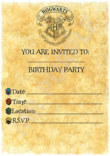 Harry Potter Birthday - invitaciones para fiestas - Carta de ...