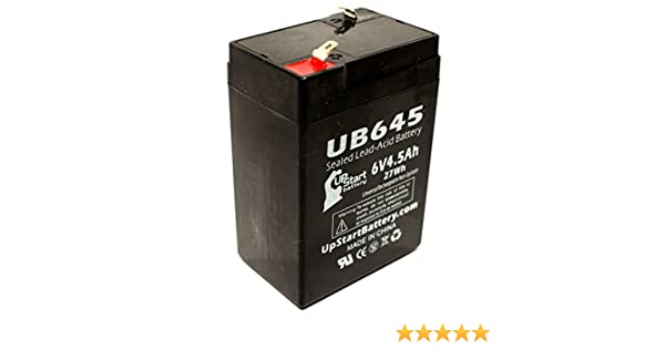 2 Pack Replacement for Nite Lite NL640 Battery 6V, 4.5Ah, 4500mAh, F1 Terminal, AGM, SLA - Includes 4 F1 to F2 Terminal Adapters Replacement UB645 Universal Sealed Lead Acid Battery
