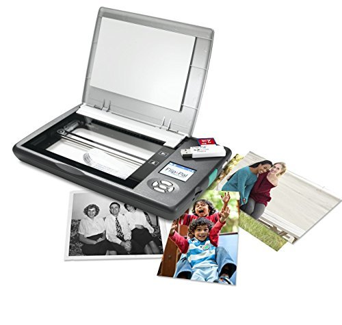 Flip-Pal mobile scanner with 4GB SD card and USB adapter. EasyStitch and StoryScans talking images software by Flip-Pal