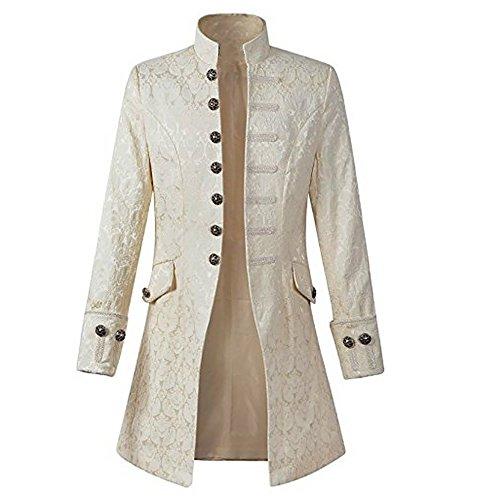 WULFUL Men's Steampunk Tailcoat Jacket Gothic Victorian Frock Coat Tuxedo Halloween Costume