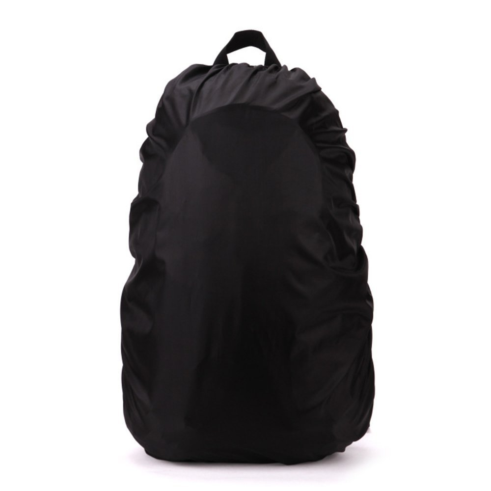 MUMIAN Men Women 45L/60L Backpack Rain Dust Cover 190 Polyester Taffeta Rain-proof Waterproof Dustproof Cover for Outdoor Living Climbing Hiking (Black, 45L)
