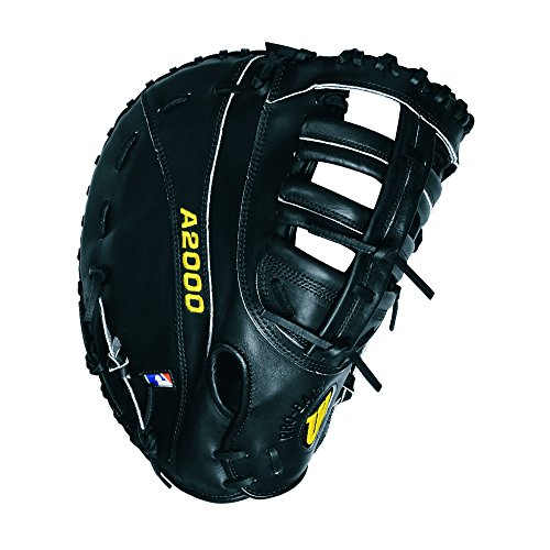 12' First Base Mitt - Wilson A2000 PS 1st Base Baseball Glove, Black, Right Hand Throw, 12-Inch
