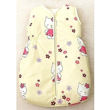 Saco de dormir para bebé, 80 – 86 cm, amarillo gato