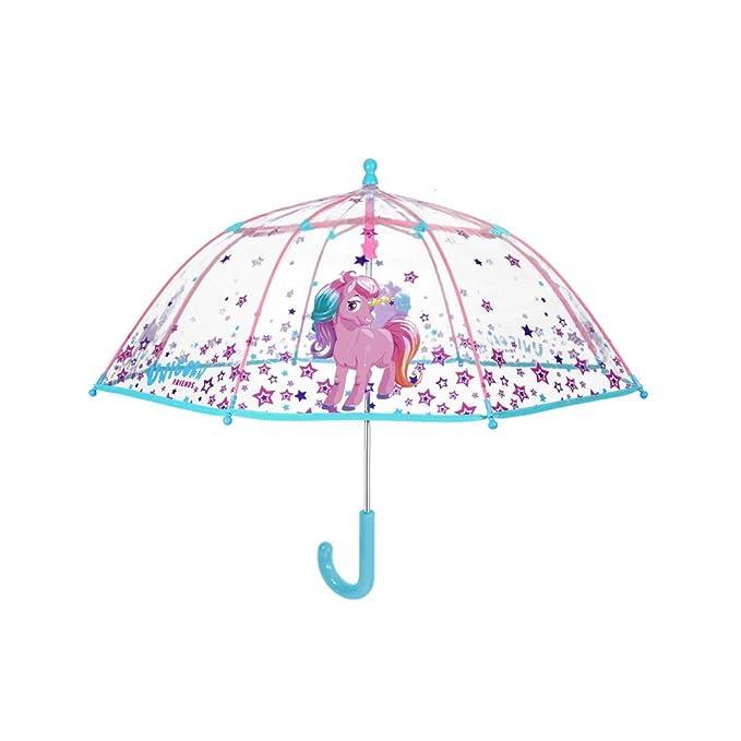 PERLETTI Paraguas largo domo manual poe bebé unicornio Cool Kids O90