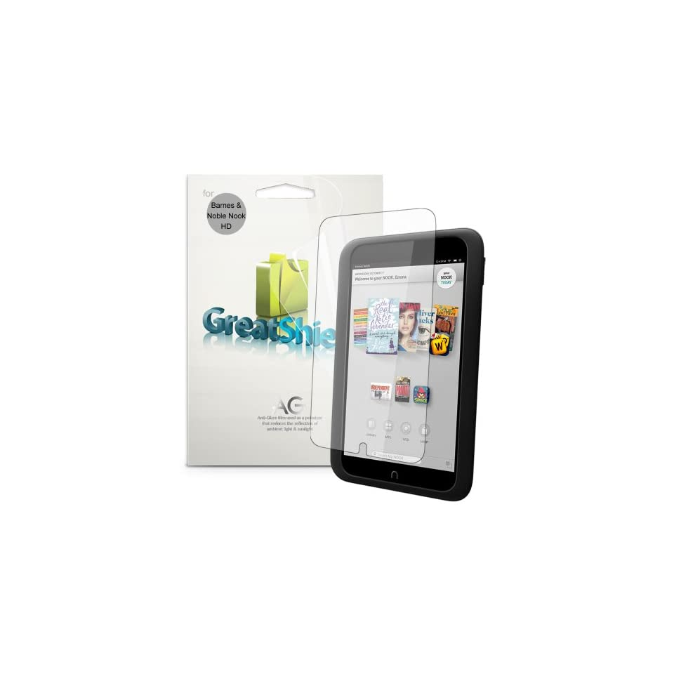 GreatShield Ultra Anti Glare (Matte) Clear Screen Protector Film for  NOOK HD 7 Tablet (3 Pack)