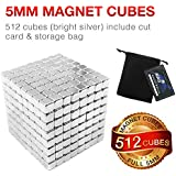 JOYNOTE 5MM 512 PCS Large Size Sculpture Buildable Magnets Office Toy for Intelligence Development & Stress Relief