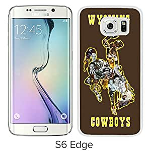 NCAA Wyoming Cowboys 7 White Hard Shell Phone Case For Samsung Galaxy S6 Edge G9250