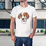 Custom Funny Graphic T Shirts for Men Ariege Pointer Head Cotton Top 12