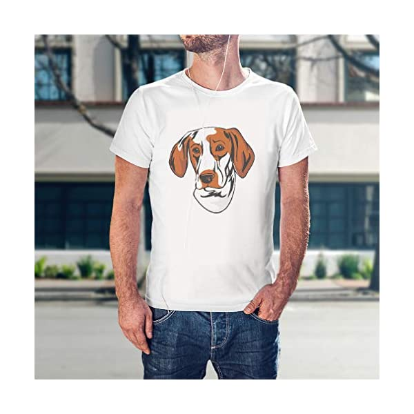 Custom Funny Graphic T Shirts for Men Ariege Pointer Head Cotton Top 5