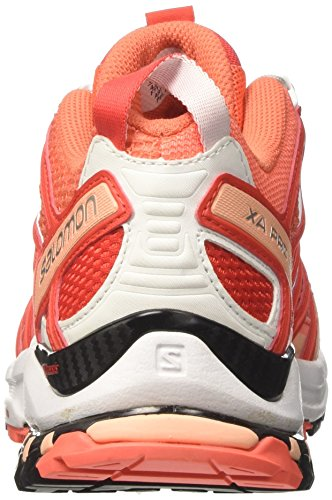 Salomon XA Pro 3D W, Zapatillas de Trail Running Para Mujer Naranja (Living Coral/White/Poppy Red)