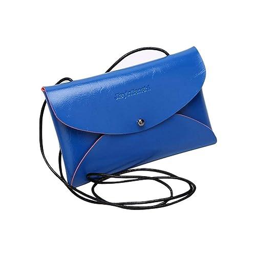4cd0ad770d51 Women Leather Messenger Bag HN Clutch Purse Wallet On Sale (Blue)  Handbags   Amazon.com