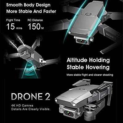 E68 WiFi FPV Drone 2.4GHz RC Drone Mini RC Helicopter Drone 6-Axis Gyro 4 Channels Quadcopter With 720P/1080P/4K HD Camera, Gesture Control: Home Improvement