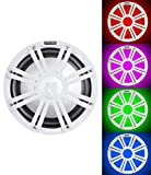 KICKER 45KMF104 10'' Free Air Marine Subwoofer SVC Sub KMF10+White Grille w/LED's