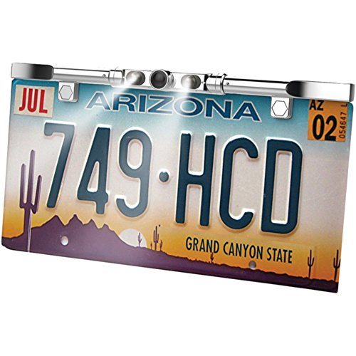 Boyo VTL405HDL License Plate Backup Camera HD Ultra Slim Chrome W/LED Lights Car Accessories