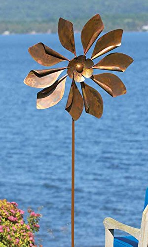 Ancient Graffiti Kinetic Giant Daisy Spinner, 93″H