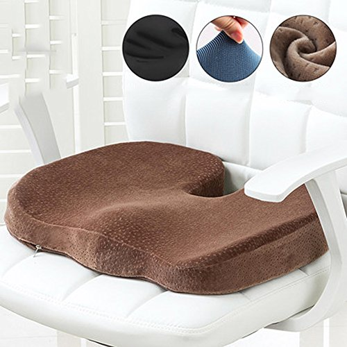 DADAO Car Seat Cushion Coccyx Orthopedic Seat Cushion Back Pain & Sciatica Relief Ergonomic Memory Foam-J 45x35cm(18x14inch)