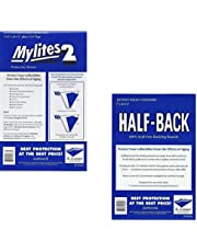 Bundle - 2 Items: 50 Mylites2 Standard Size Mylar Archival Sleeves, 50 Half Back Standard Size 24 Pt. Comic Backing Boards 725M2/700HB E. Gerber