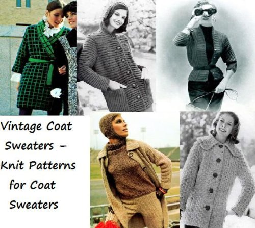Vintage Coat Sweaters - Knit Patterns for Coat Sweaters